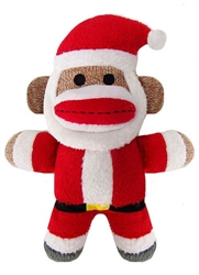 "Lulubelles - 7.5"" Holiday Baby Sock Monkey Jolly Santa"