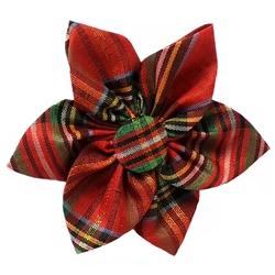 Red Plaid Pinwheel by Huxley & Kent