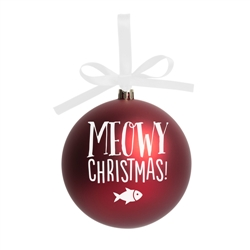 Meowy Christmas Ball Christmas Tree Ornament