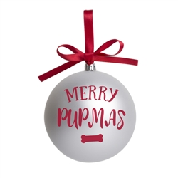 Merry Pupmas Ball Christmas Tree Ornament