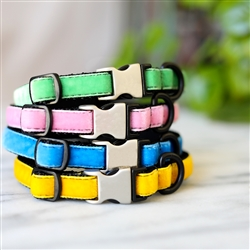 Small Dog + Puppy Collar -- 32 Velvet Colors