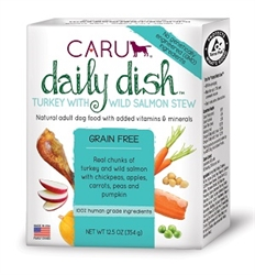 Caru Daily Dish Turkey with Wild Salmon Stew for Dogs 12.5 oz.