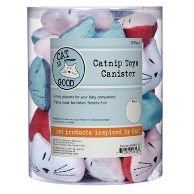 Cat is Good® Catnip Toy Canister 28Pcs