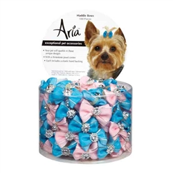 Aria Maddie Dog Bows Canister, 100 pieces
