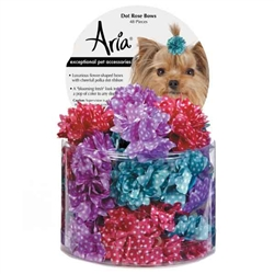 Aria Dot Rose Bows Canister - 48  pieces