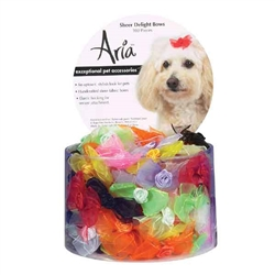 Aria Sheer Delight Bows - Canister of 100 bows