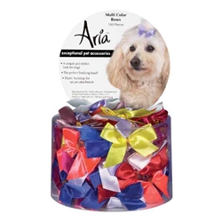 Aria Multi Color Bows - Canister of 100 bows