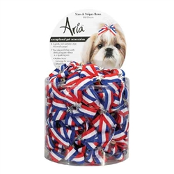 Aria Stars & Stripes Bows - Canister of 100 bows