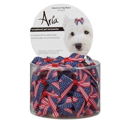 Aria Americana Pup Bows - Canister of 48