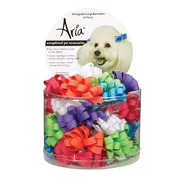 Aria Grosgrain Barrettes - Canister of 48