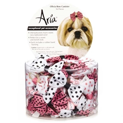 Aria Olivia Bows - Canister of 56