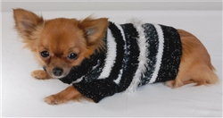 PARTY SWEATER BLACK/WHITE SIZE X-SMALL****1 PC. LEFT*****