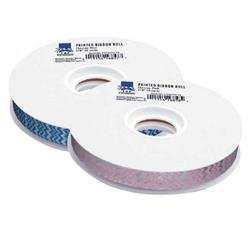 Top Performance® Chevron Blue Printed Ribbon 50 yds