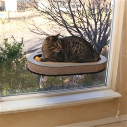 Universal Mount Kitty Sill with Cardboard track
