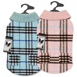 Zack & Zoey® Elements Cuddle Plaid Dog Coat