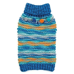 Zack & Zoey® Chunky Pom-Pom Blue Dog Sweater
