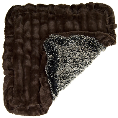 Blanket- Frosted Willow and Godiva Brown or  Customize your Own
