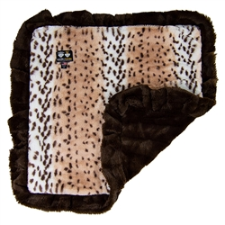 Blanket- Aspen Snow Leopard and Godiva Brown or  Customize your Own