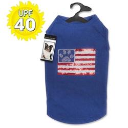 Zack & Zoey® Sequin Flag UPF40 Tank