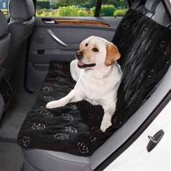 Cruising Companion™ PawPrint Car Seat Cover - Black