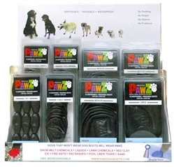Pawz Countertop  Display - 28 pc. (Black Boots)