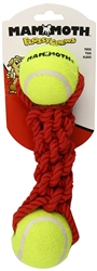 Mammoth Gnarlys With 2 Tennis Balls Rope Toy, Assorted Colors - While Supplies Last