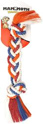 """Mammoth Flossy Chew Braided 2 Knot Rope Toy, 17"""" Assorted Colors - While Supplies Last"""