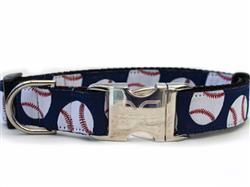 Baseball Collar Silver Metal Buckles