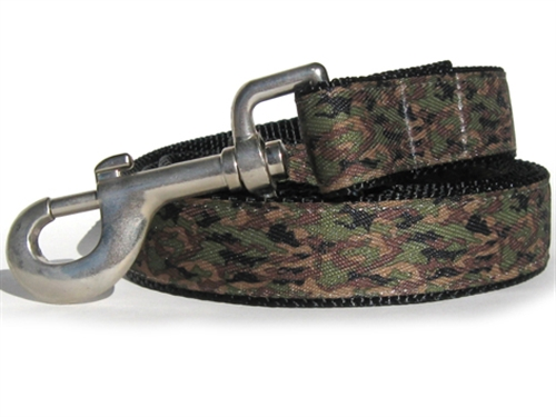 Camo K-9 Collar Gold Metal Buckles
