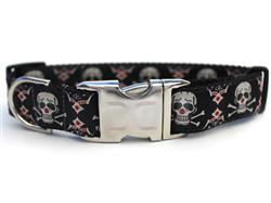 Billy Bones Collar Silver Metal Buckles