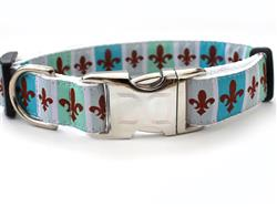 French Quarter Collar Rose Gold Metal Buckles