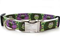H'Owl Avocado & Grape Collar Silver Metal Buckles