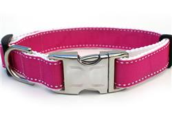 Preppy In Pink Collar Gold Metal Buckles