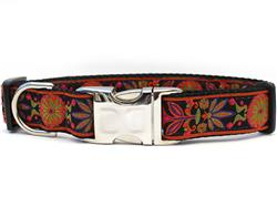 Venice Ink Dog Collar - with Yellow Gold Metal Buckles