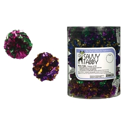 Savvy Tabby® Tabby Mylar Ball Cat Toy Canisters, 45 pieces