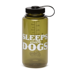 BARKOLOGY® SLEEPS WITH DOGS® NALGENE® WATER BOTTLE - OLIVE