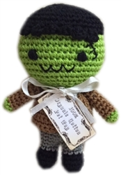 Knit Knacks Franky the Monster Organic Cotton Small Dog Toy
