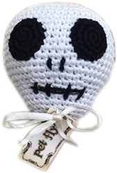 Knit Knacks Skully the Skull Organic Cotton Small Dog Toy