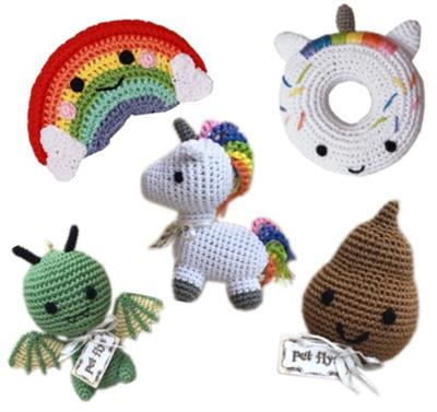 Magical Collection- Knit Knacks-Organic Cotton Small Dog Toy
