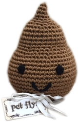 Knit Knacks Doodie the Poo Organic Cotton Small Dog Toy