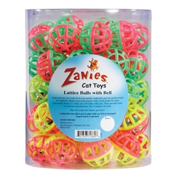 Zanies®  Lattice Balls with Bells - Canister