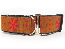 Pinwheel Mexicali Sunset Extra Wide Martingale Dog Collar