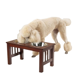 Pet Studio® Mission Cherry Wood Raised Diner