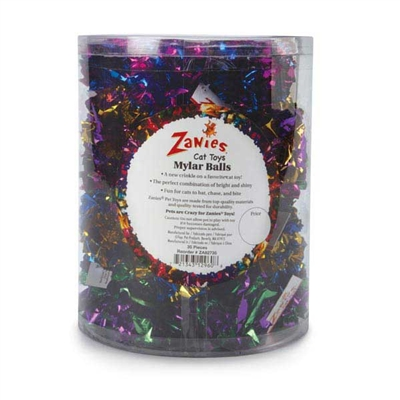 Zanies® Mylar Balls Cat Toy - Canister of 35