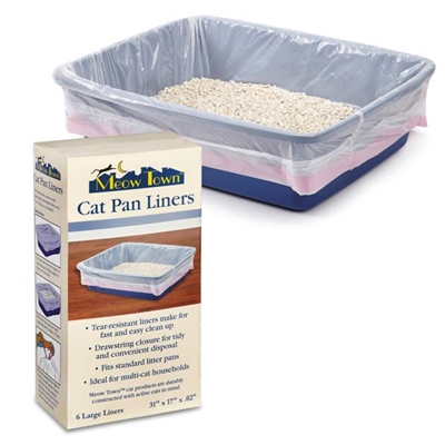 Meow Town™ Cat Pan Liners Large 30/Pack