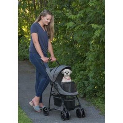 Happy Trails Pet Stroller in Dark Platinum