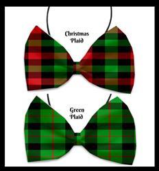 Christmas Plaid Pet Bow Ties