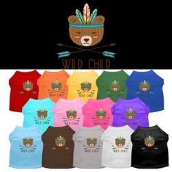 Wild Child Embroidered Dog Shirt
