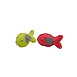 "HUNTER - Cat toy ""by Laura"" Fish, red, light green"