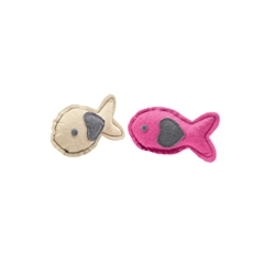 "HUNTER - Cat toy ""by Laura"" Fish, cream, pink"